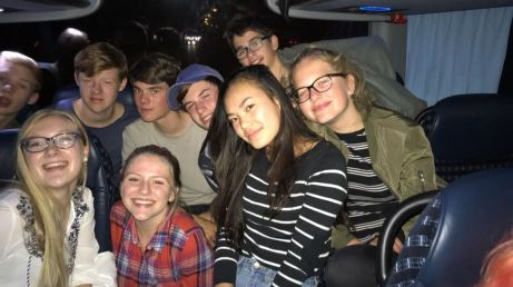 De groep waarmee het in de bus zo gezellig was!