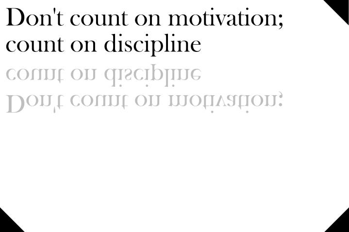 Waar kom je zonderdiscipline?